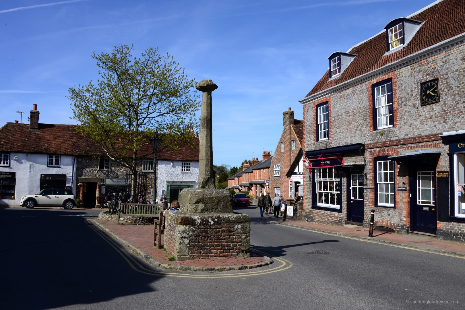 Alfriston in East Sussex - der Marktplatz