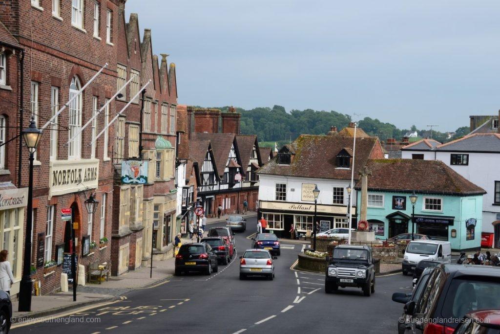 Arundel (West Sussex) mit dem Hauptplatz