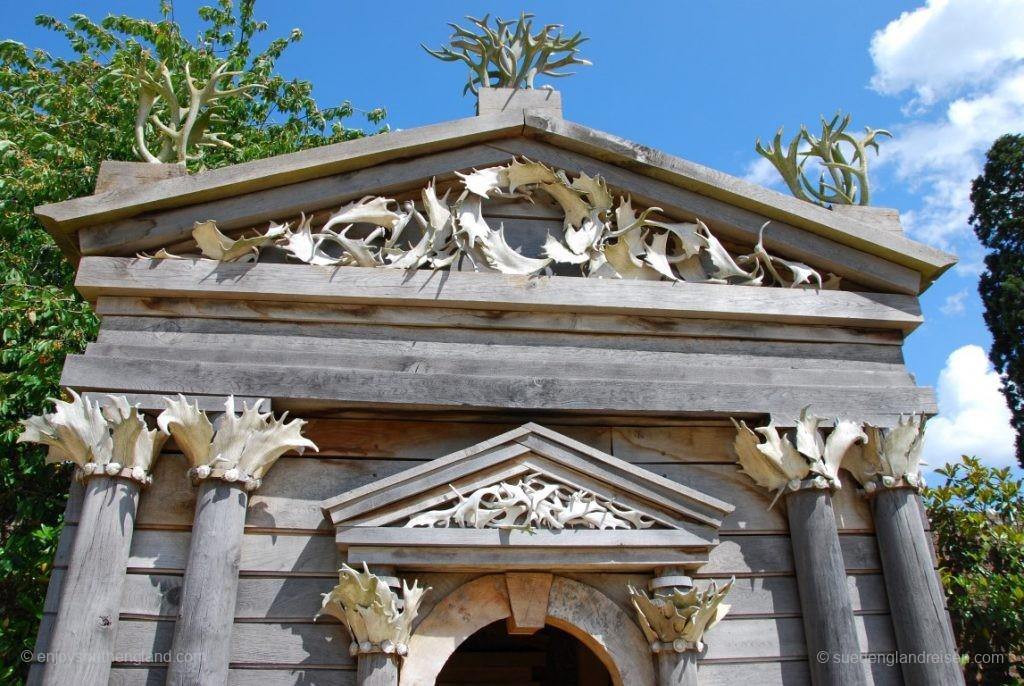 Etwas spezielle Dekoration aus Hirschgeweihen im Arundel Castle