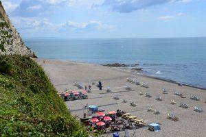 Der Strand von Beer in Devon