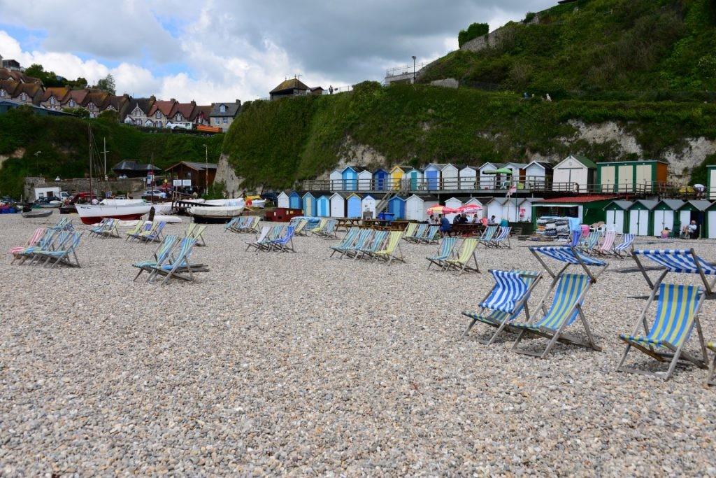 Ein wirklich überlaufener Strand in Beer (Devon)