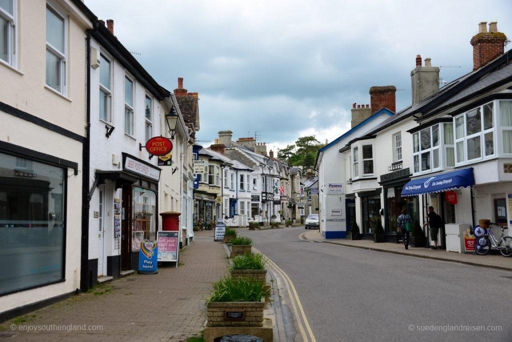 Die High Street von Beer (Devon)