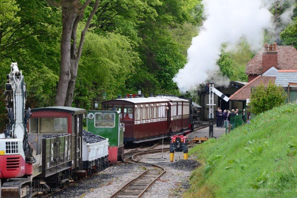 Die Lynton & Barnstaple Railway heute - Betriebszentrum Woody Bay.