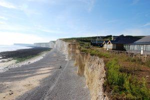 Birling Gap auf den Kreidefelsen von East Sussex
