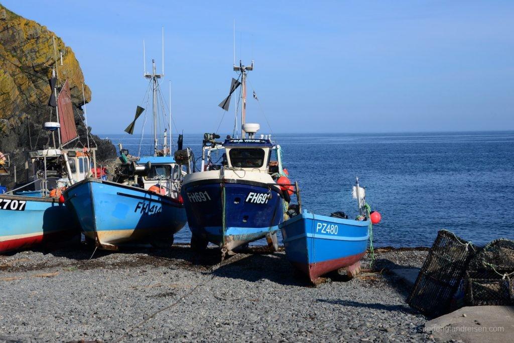 Ob der Fang gut war heute? Feierabend am Hafen von Cadgwith