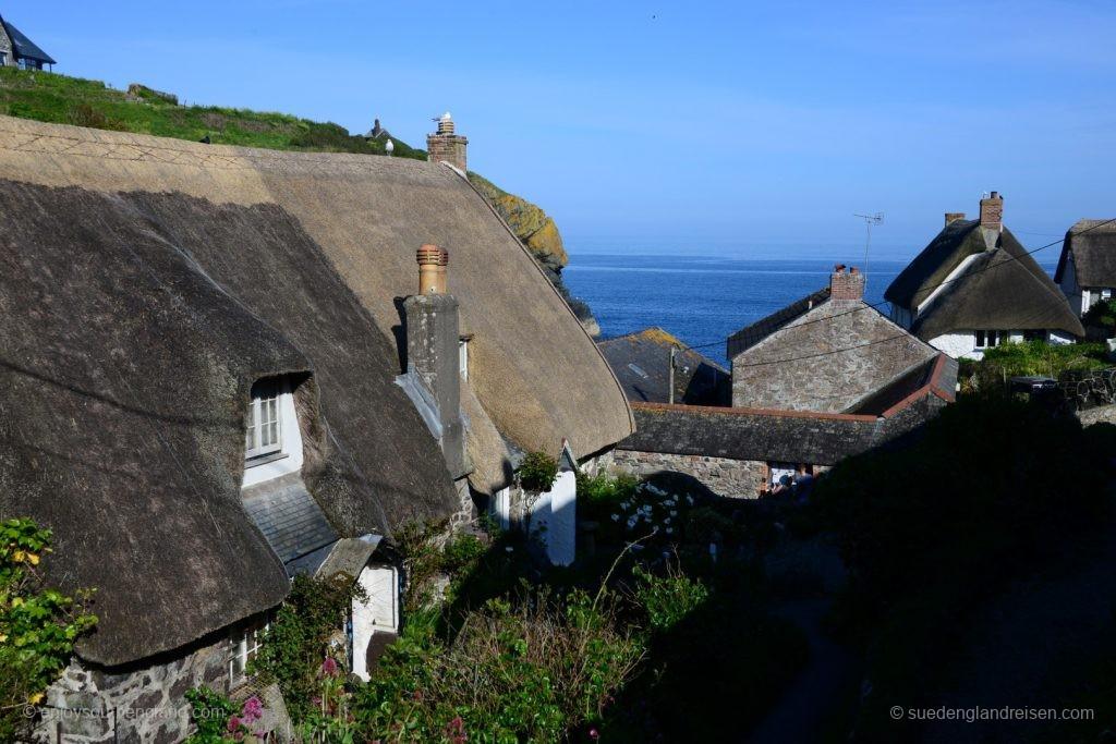Cadgwith in Cornwall, ein ganz typisches altes Fischerdorf