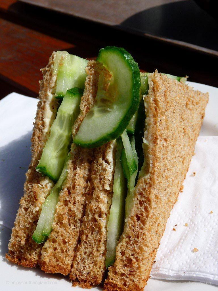 Gurkensandwich (Cucumber Sandwich), ein klassischer Nachmittagssnack