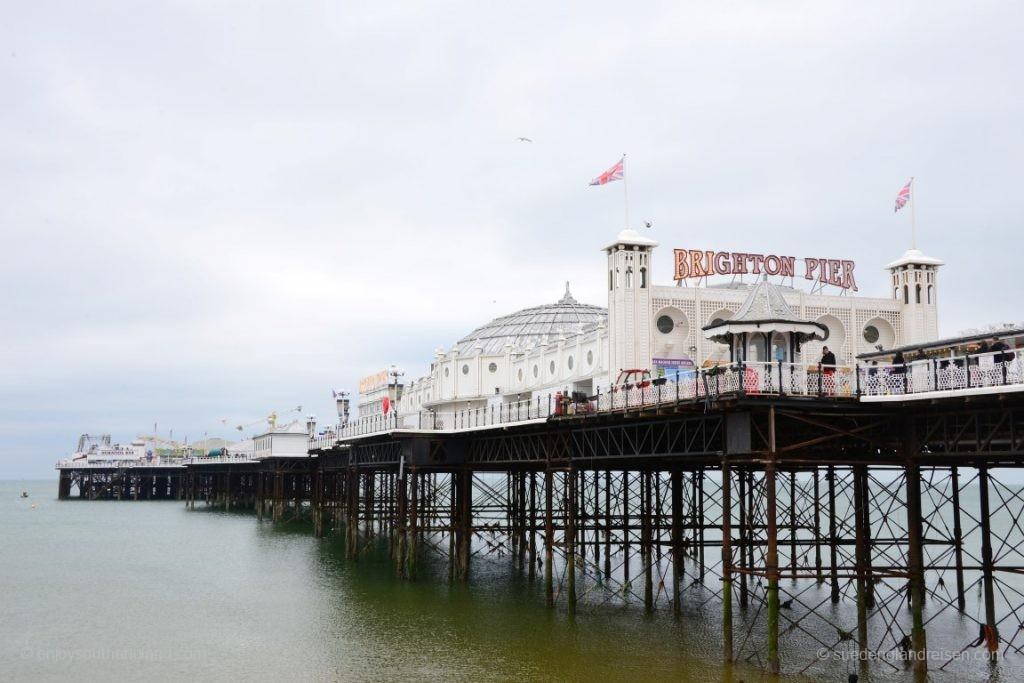 """Der Brighton Pier - ein """"Amusement Area""""."""