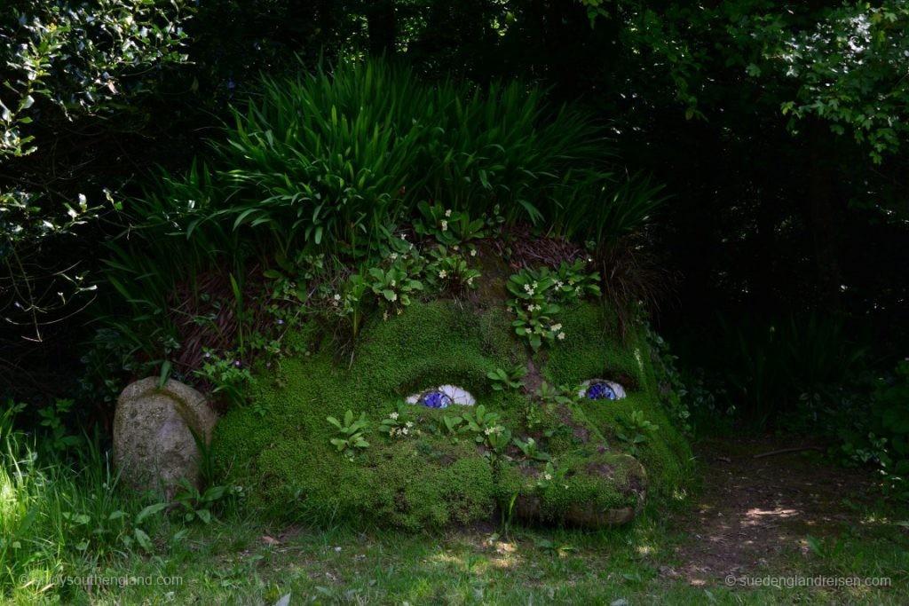 Giants Head in den Lost Gardens of Heligan
