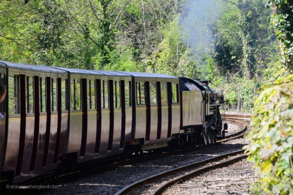 Auf der Fahrt nach Hythe mit der Romney, Hythe & Dymchurch Railway
