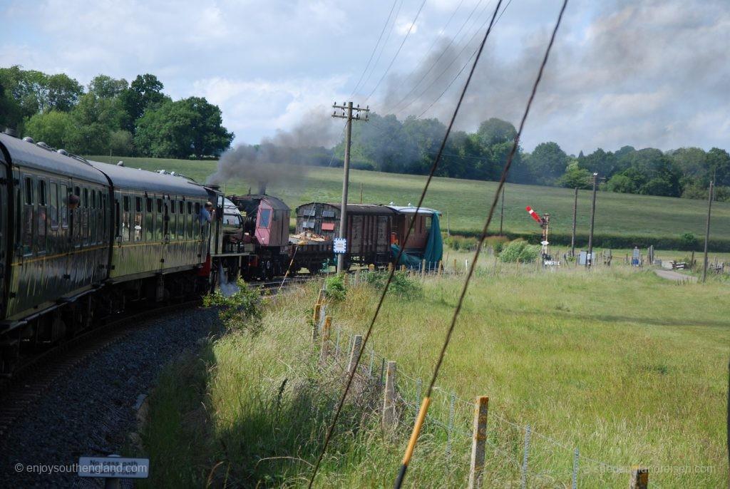 Kent & East Sussex Railway - Auf der Fahrt