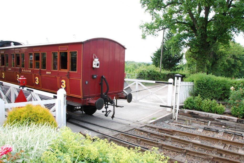 Kent & East Sussex Railway nach der Ausfahrt