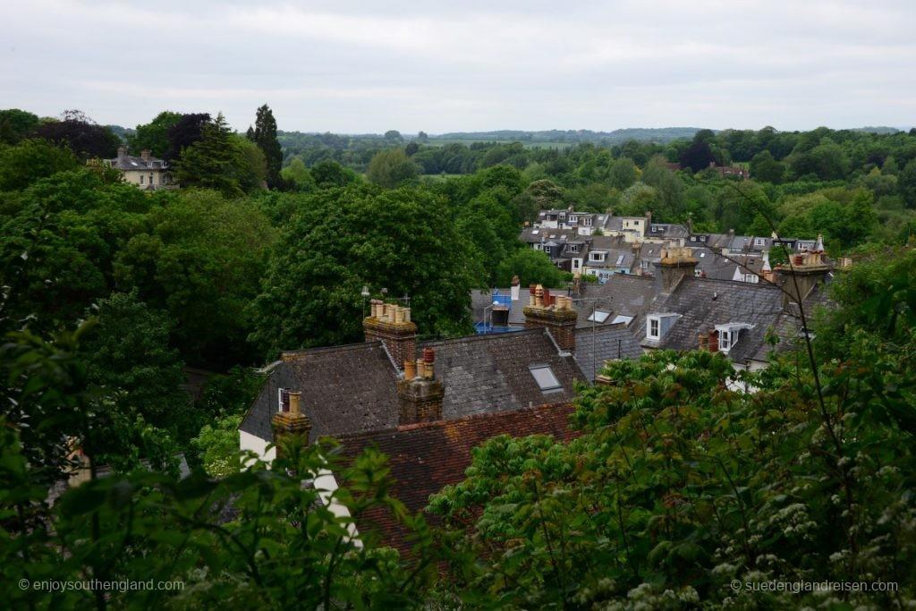 Lewes vom Castle aus gesehen
