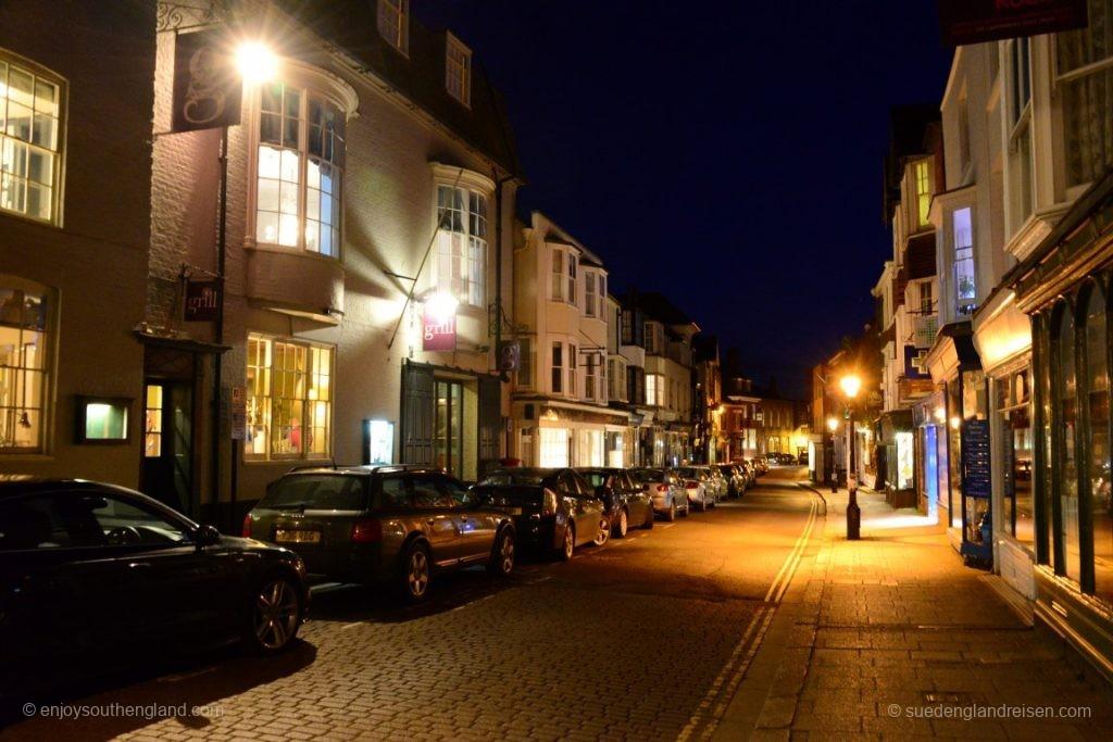 Rye in der Nacht - die High Street