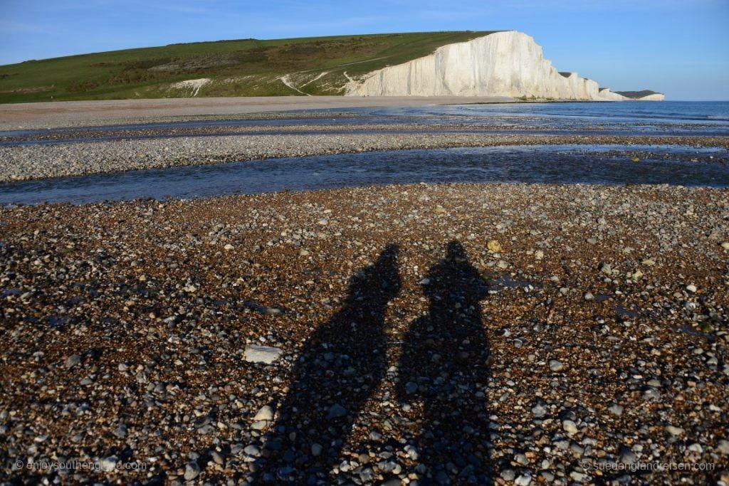 Vor den Seven Sisters - die abendlichen Schatten werden immer länger...