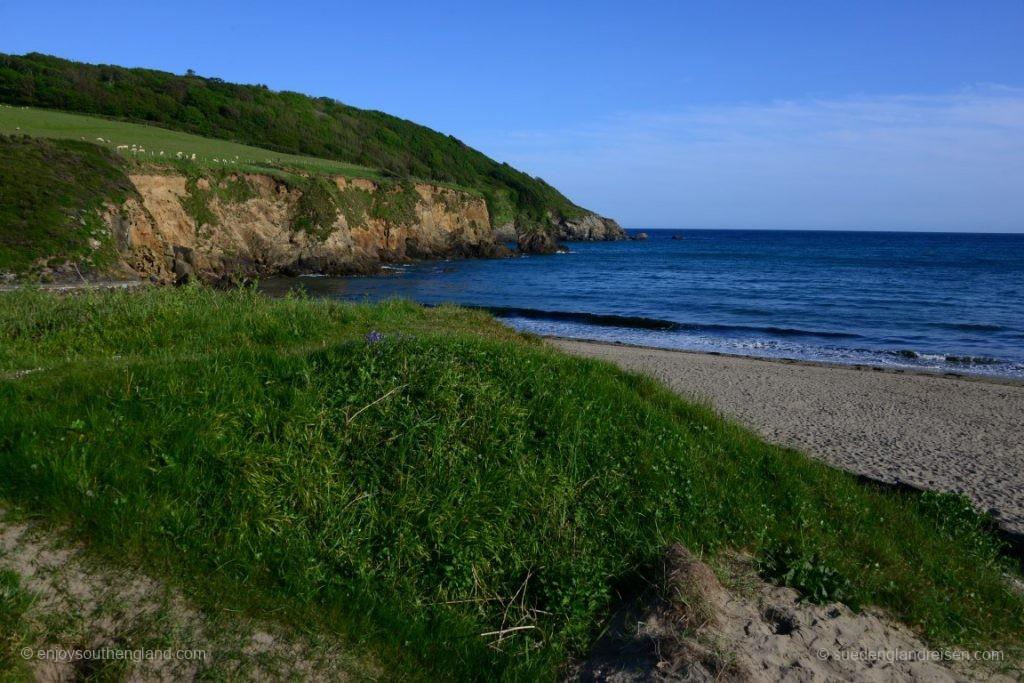 Die Küste der Roseland Peninsula