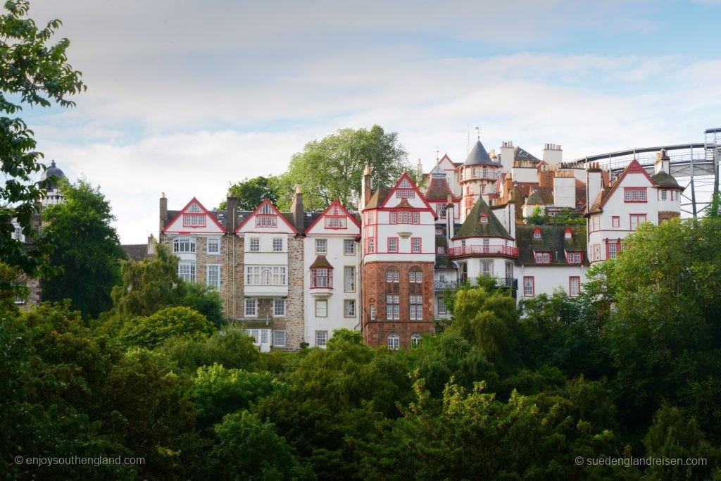 Edinburgh - die alten Häuser von Old Town