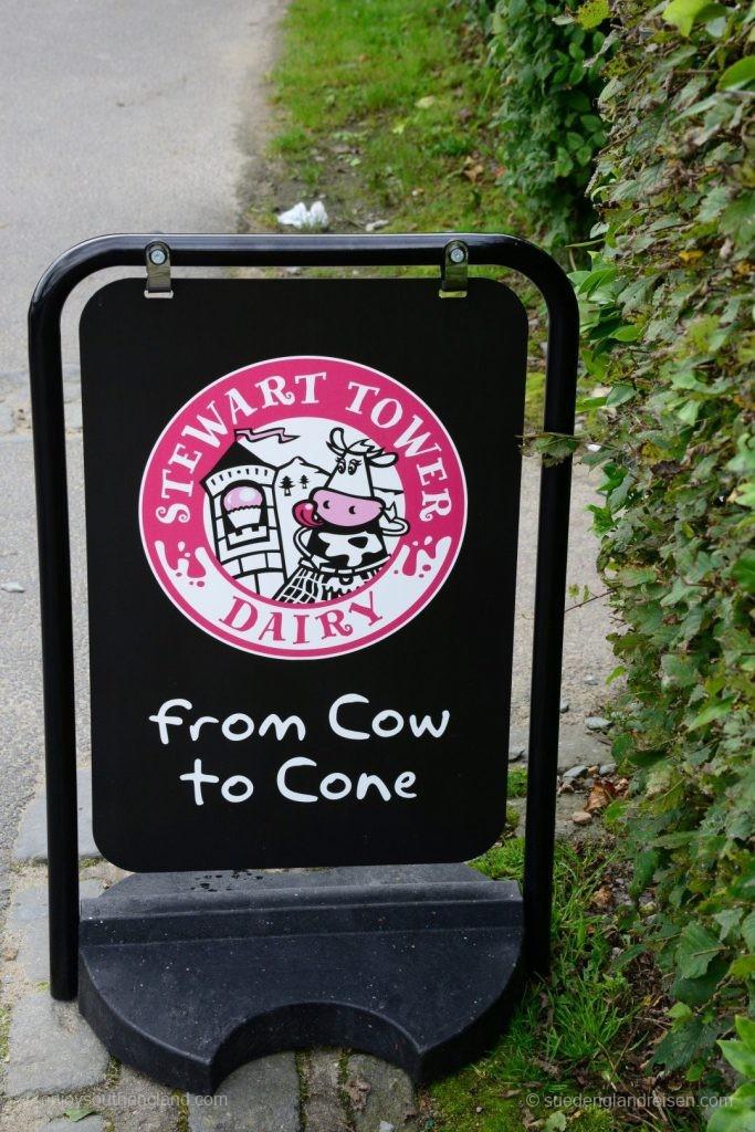 Eiscreme kommt in Schottland nicht aus Italien, sondern von den Bauern. Und zwar direkt von der Kuh in die Tüte!