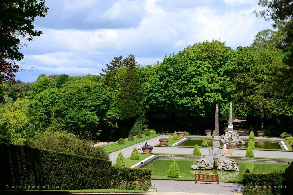 Der Formal Garden von Blenheim Palace
