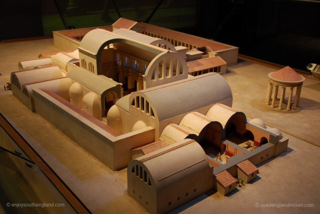 Modell der ursprünglichen römischen Bäder in Bath