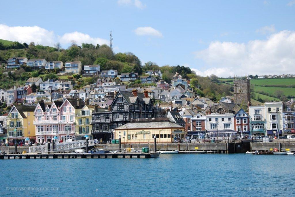 Ein Blick zurück auf Kingswear, das Dartmouth gegenüber liegt