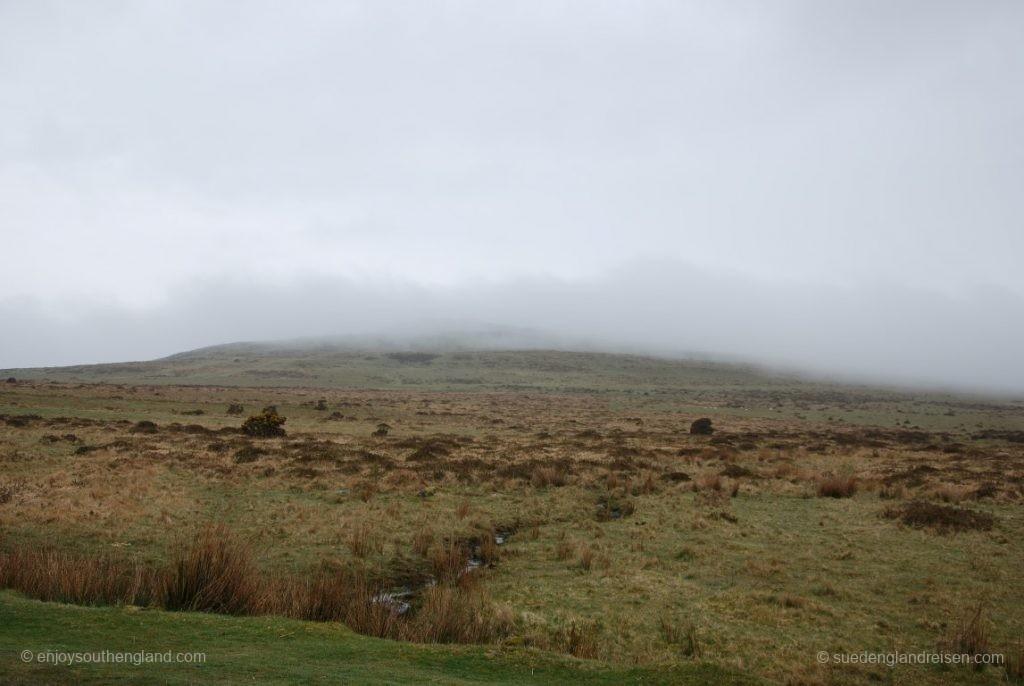 Ein nebliger Tag im Dartmoor beginnt