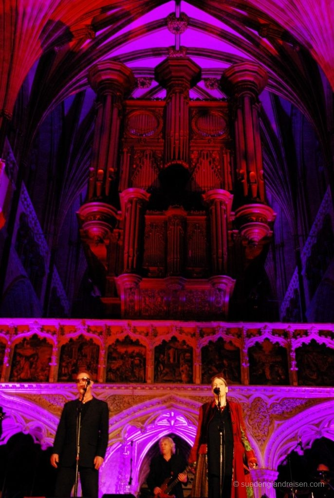 Konzert in der Exeter Cathedral (Oysterband, Januar 2013)