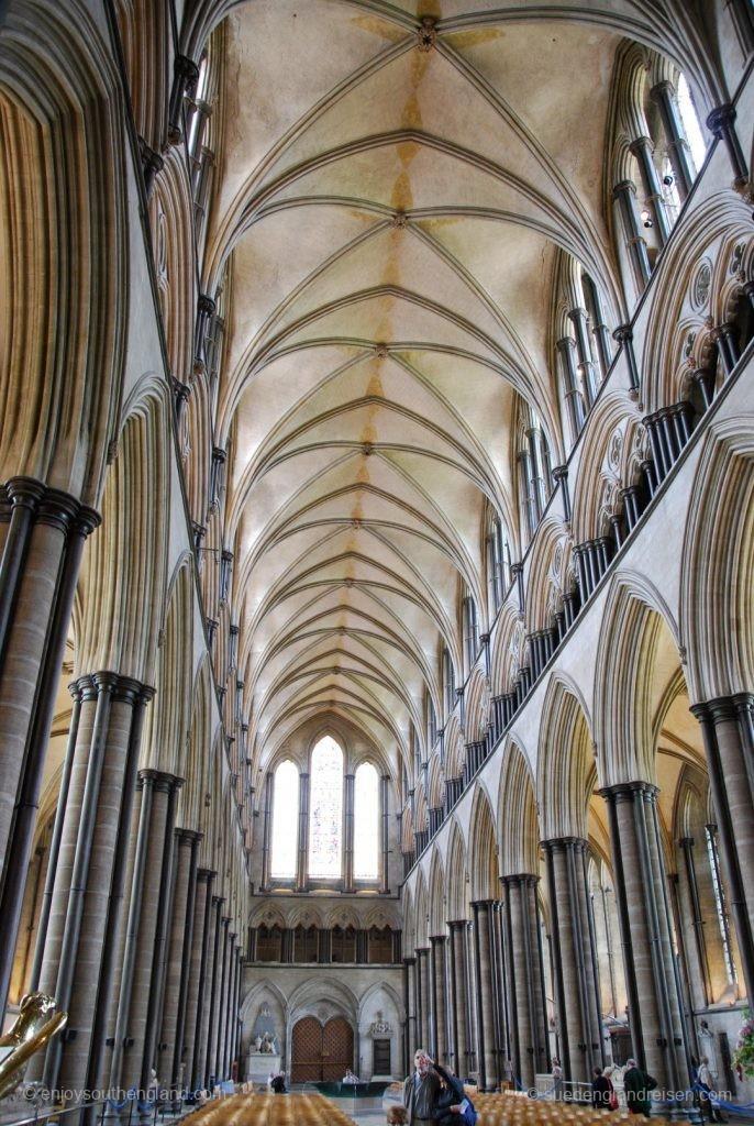 Hauptschiff der Kathedrale von Salisbury