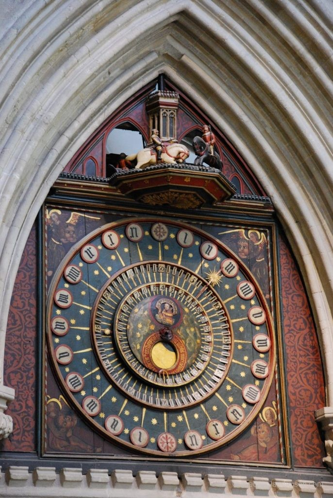 Uhr in der Wells Cathedral