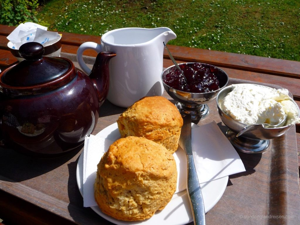 Cream Tea im Litlington Tea Garden (East Sussex)
