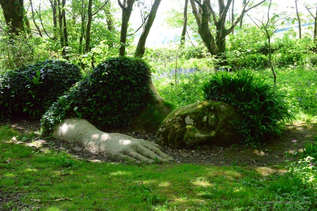The Mud Maid is sleeping in the Lost Gardens of Heligan