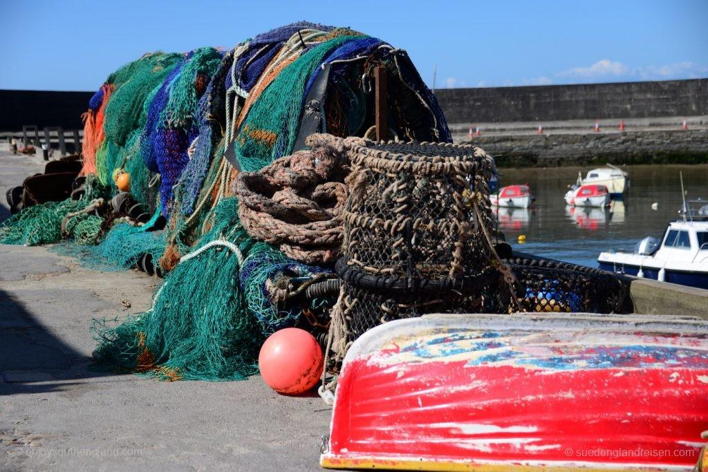 Der Hafen von Lyme Regis ist noch heute in Betrieb