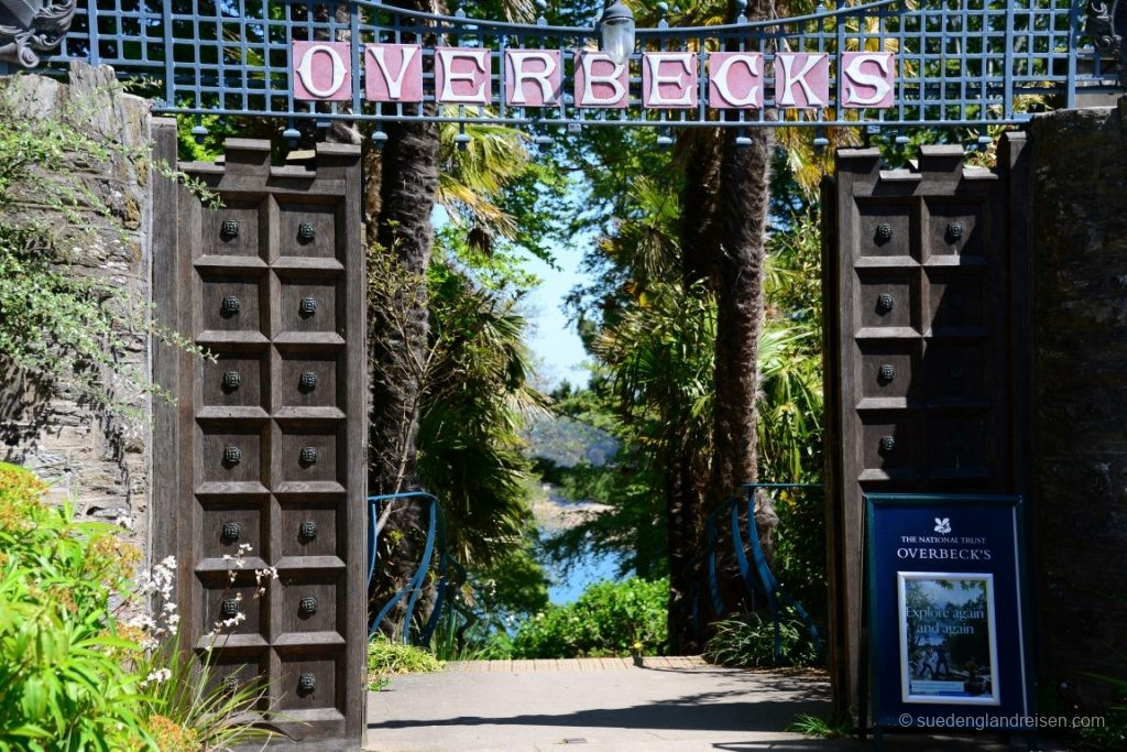Der Eingang zu Overbeck's Garden