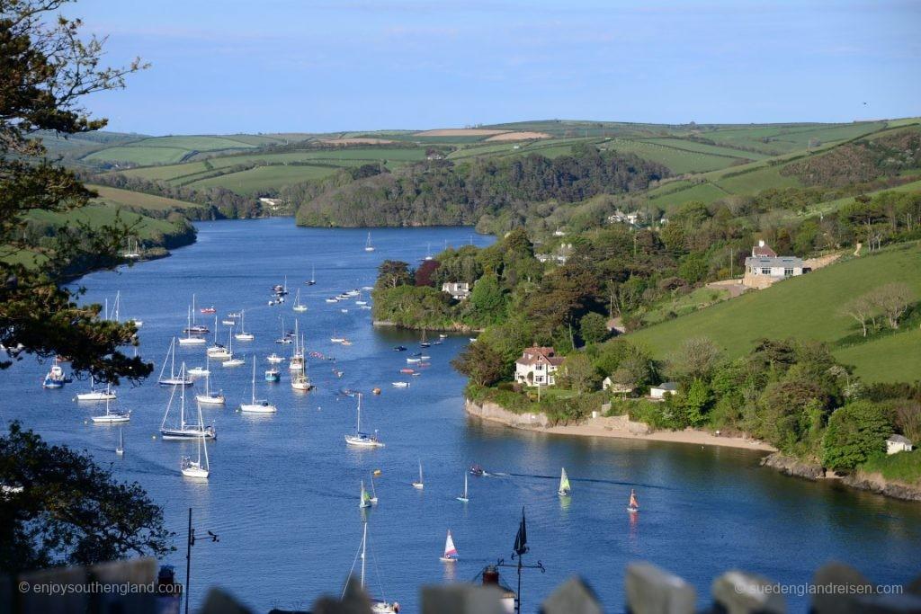 Zum Schluss nochmal ein Blick auf das Estuary, den Naturhafen von Salcombe (Devon)