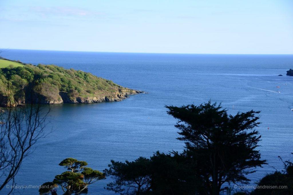 Die Mündung in den Ärmelkanal bei Salcombe (Devon)