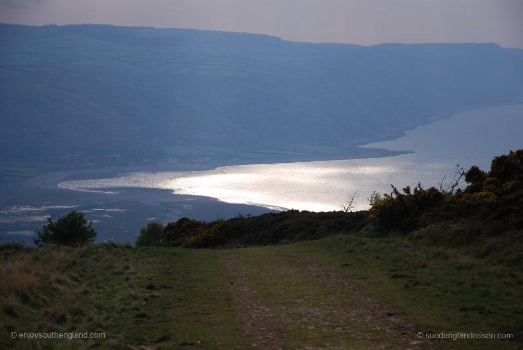 Blick auf die Bucht von Porlock vom Selworthy Beacon