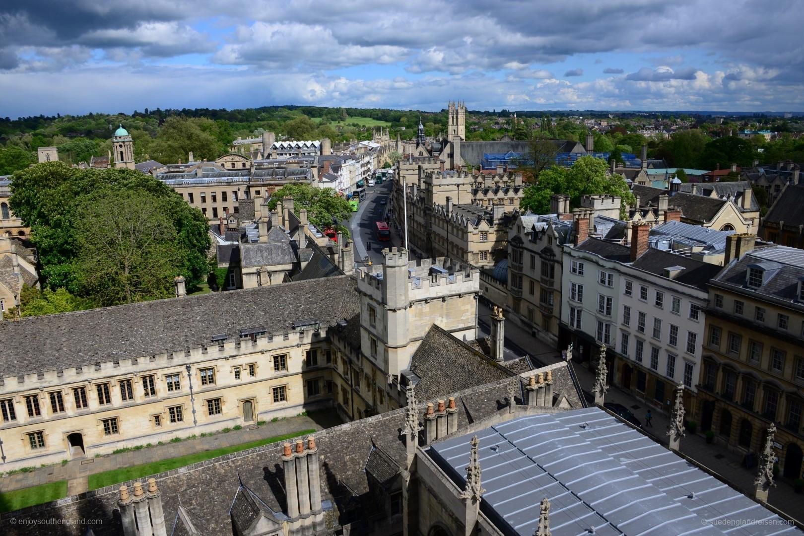 Oxford - Blick vom Kirchturm auf die Stadt