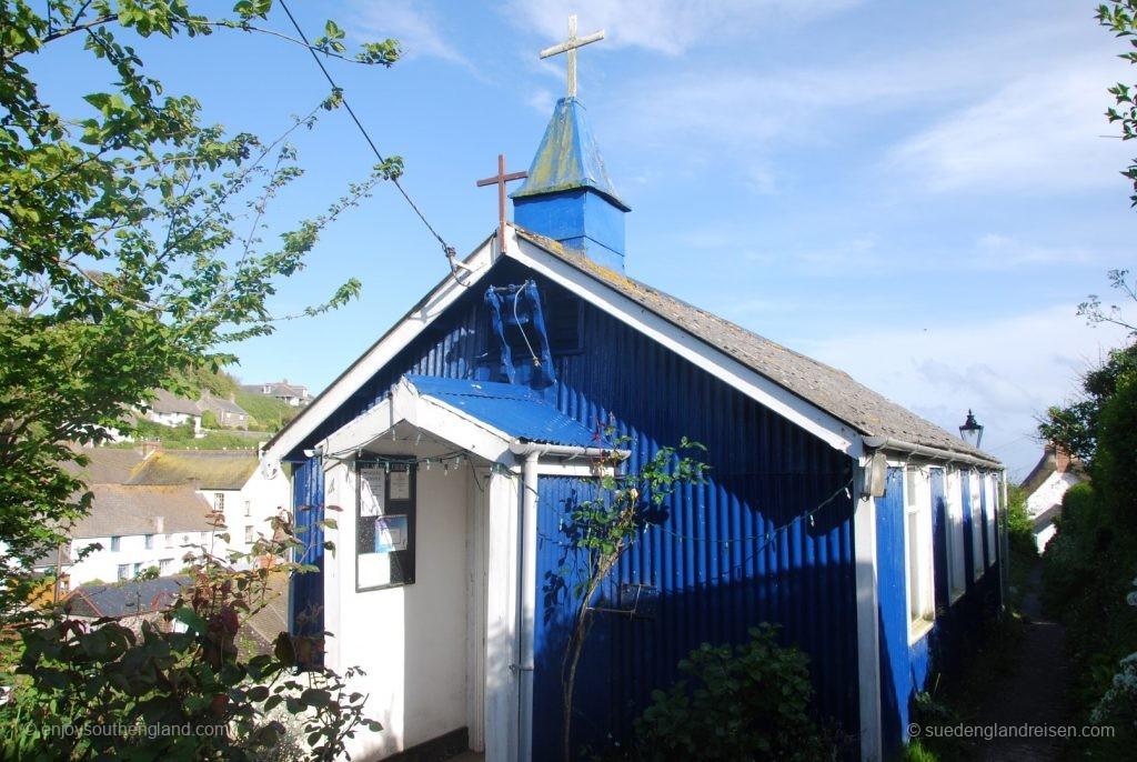 Die Kirche von Cadgwith - aus Wellblech!