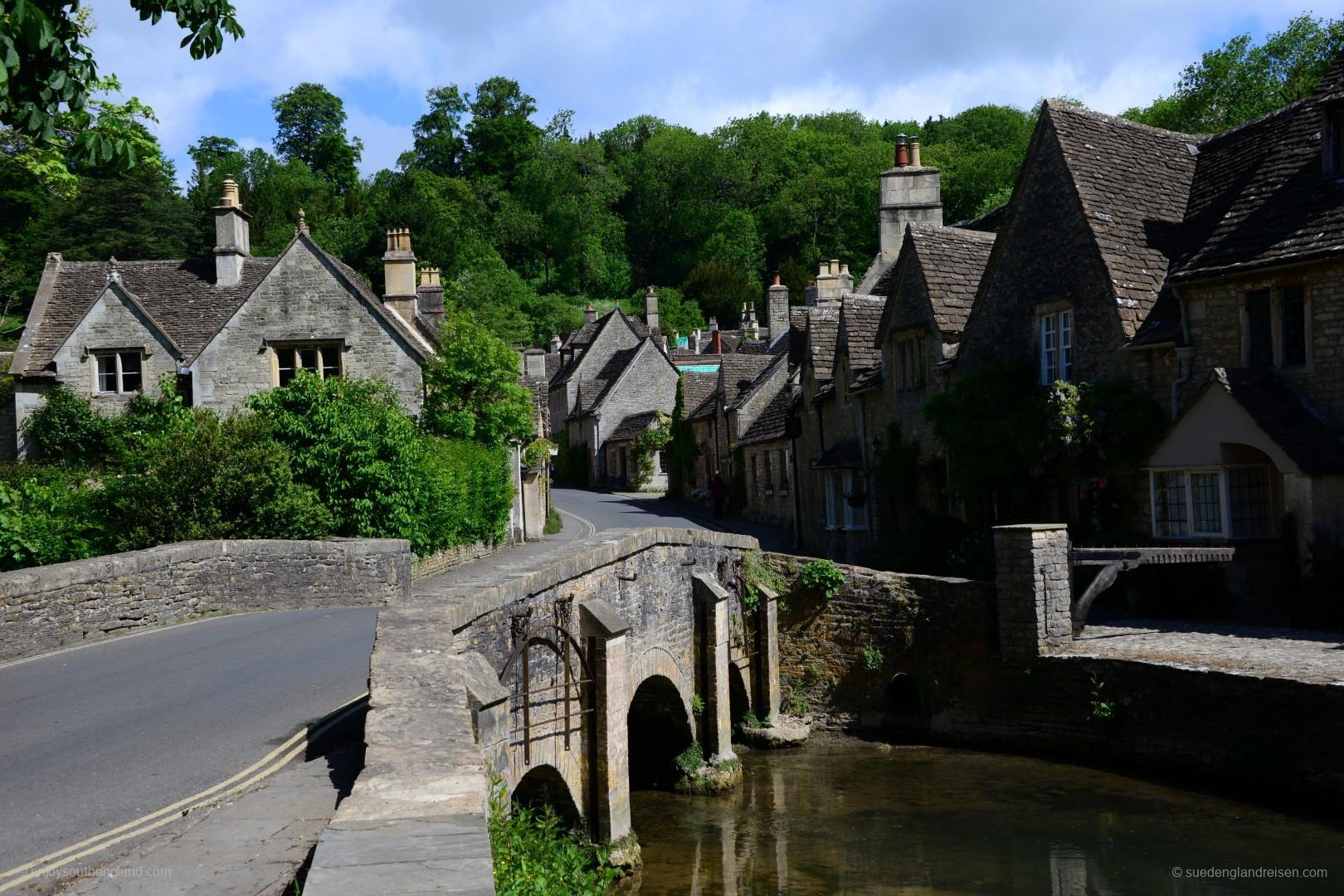 Castle Combe - Blick vom Bybrook River