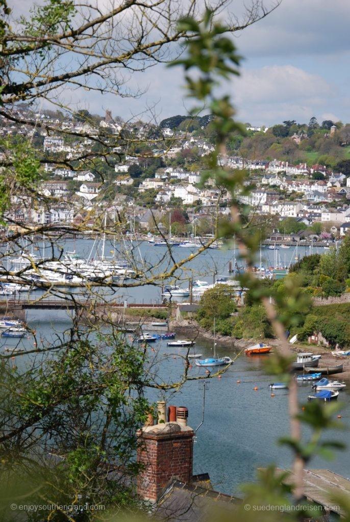 Blick auf Dartmouth von Kingswear aus