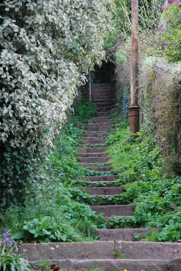 wobei manche Treppen in Dartmouth sehr idyllisch liegen
