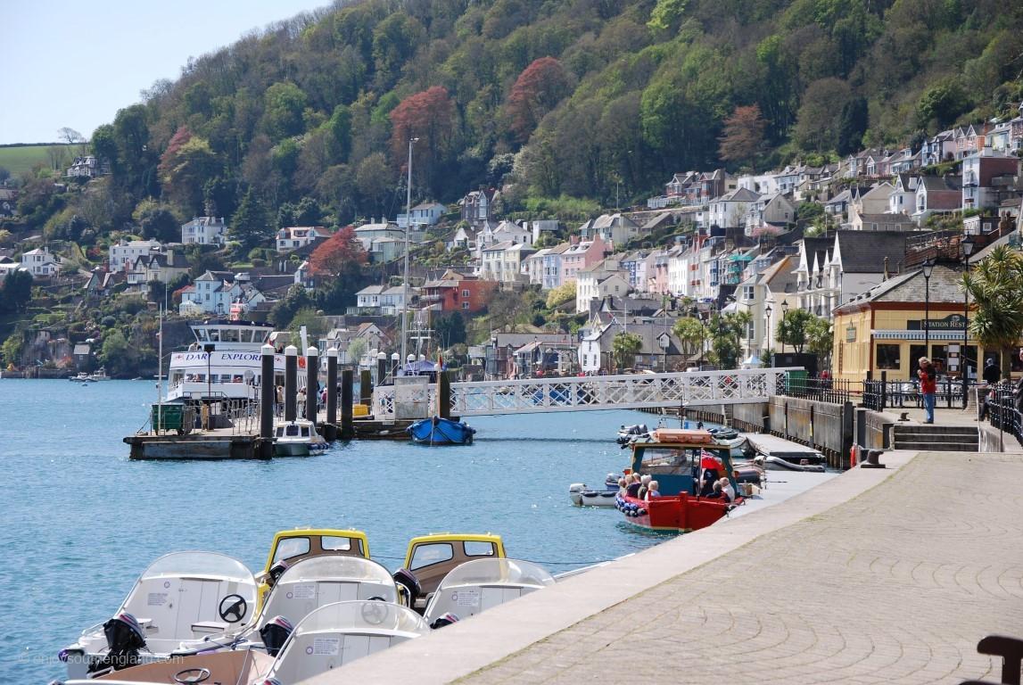 Uferpromenade in Dartmouth - hier startet die Tour