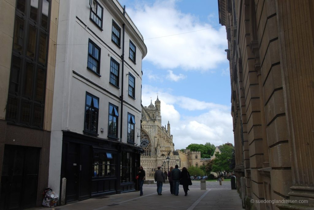 Exeter - in Hintergrund die Kahedrale
