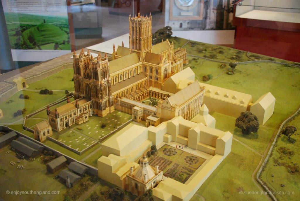 Modell der Abbey von Glastonbury