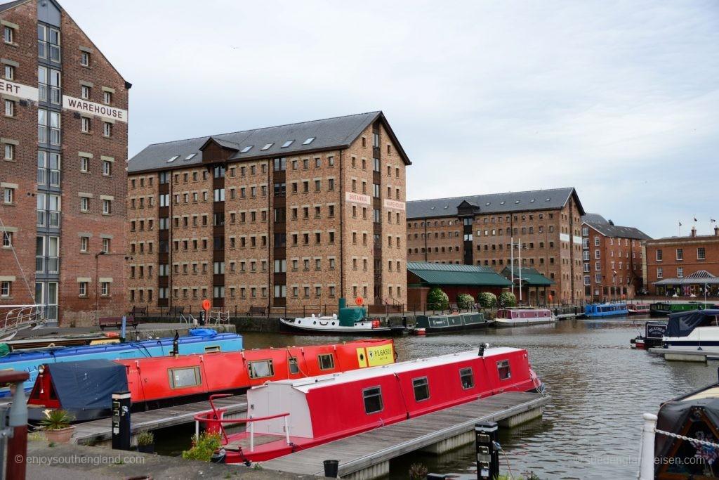 Gloucester Docks - der bereits renovierte Teil