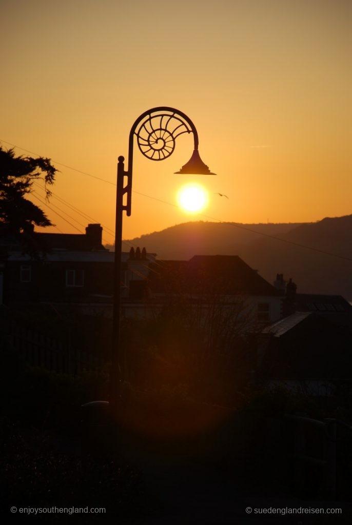 Sonnenaufgang in Lyme Regis