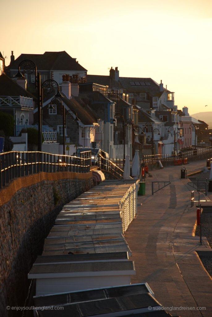 Lyme Regis im frühen Morgenlicht