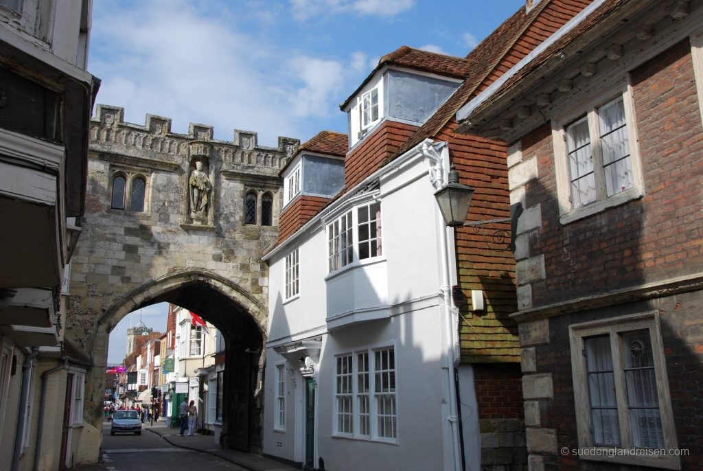 In der Altstadt von Salisbury