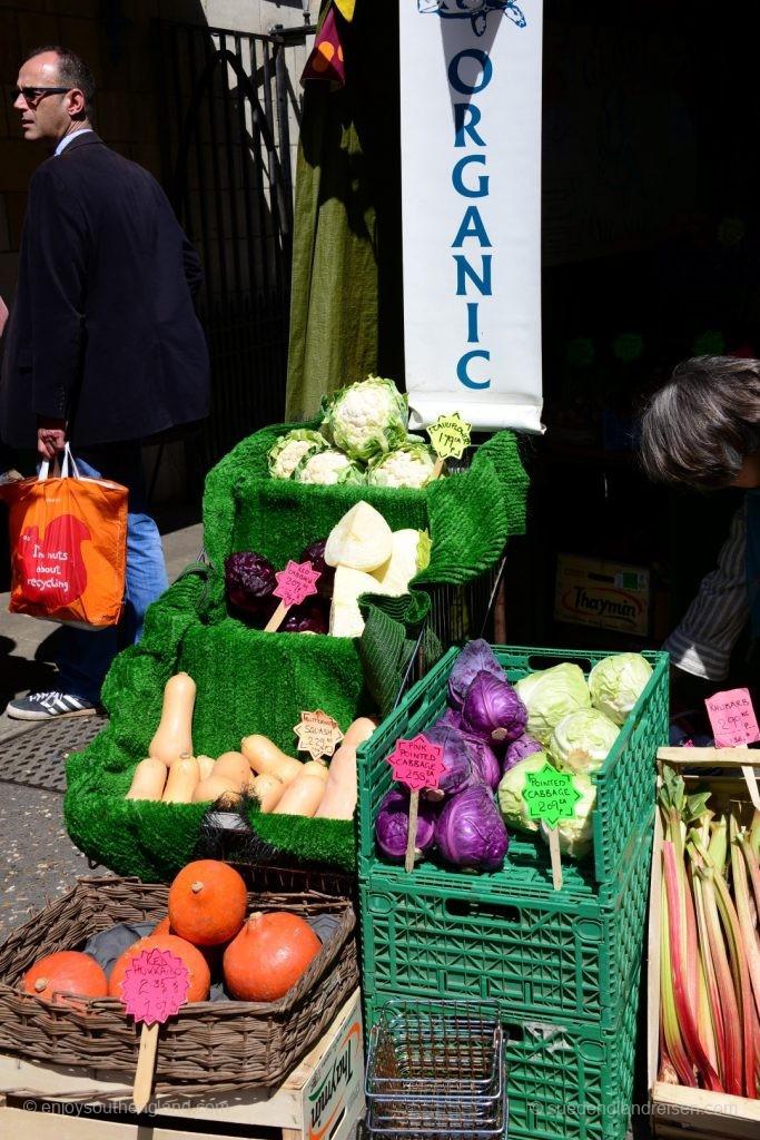 Der Farmers Markt in Stroud in den Cotswolds