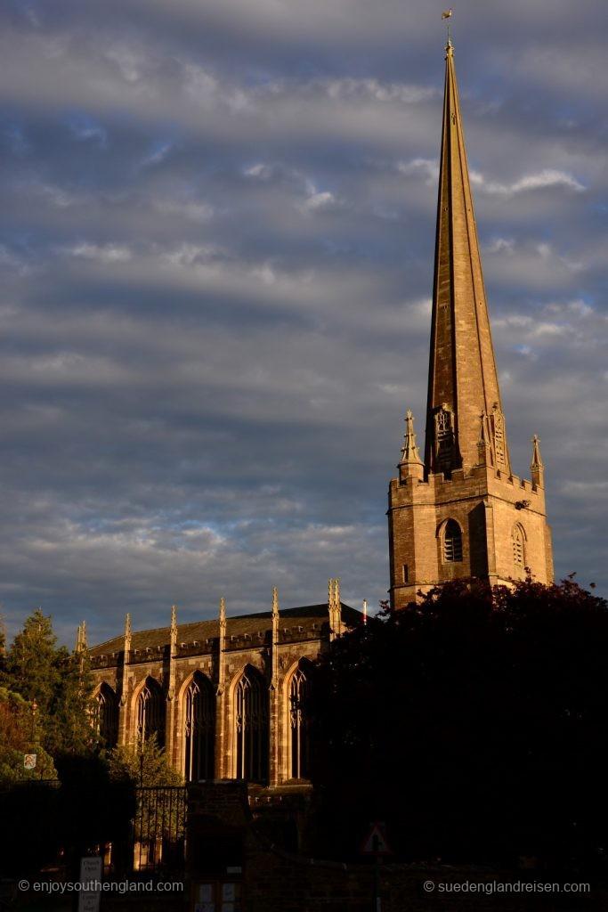 Die Kirche von Tetbury im schönsten Abendlicht